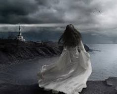 woman and lighthouse