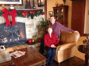 Mom & Ray Christmas 2012 in Denton, Texas