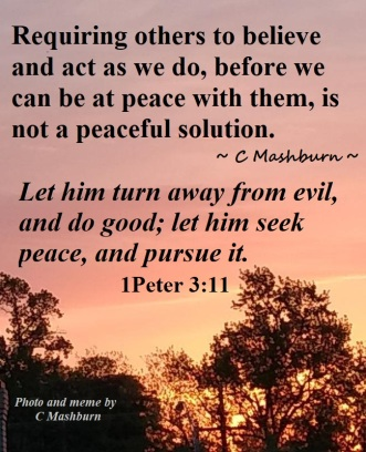 a peaceful solution