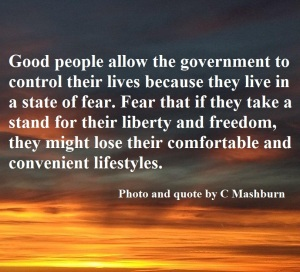 A state of fear