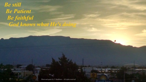 ABQ sunrise - quote