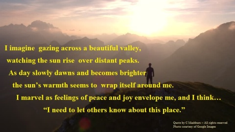 sunrise over peaks quote