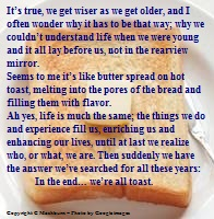 butter on toast quote