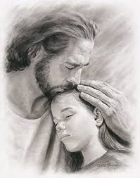 Jesus kissing child