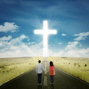 couple with cross